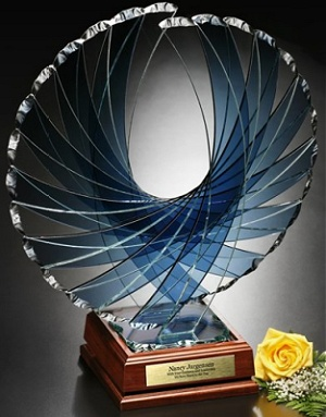 engraved crystal and glass awards with your logowith your logo